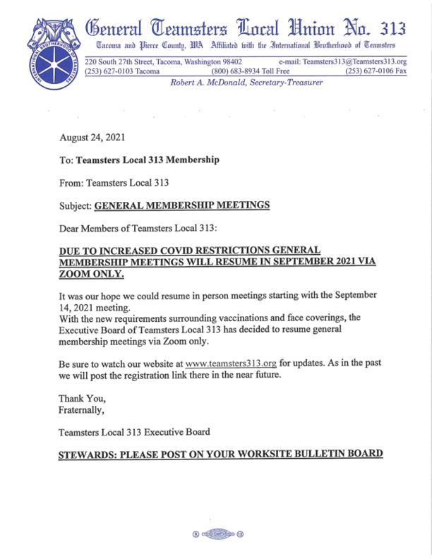 General Membership Meetings